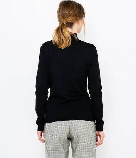 Pull col montant femme